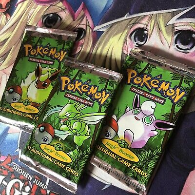 Pokemon Jungle Set 1st Ed Booster Pack Set of 3 Wrappers *All Artwork* *Rare*