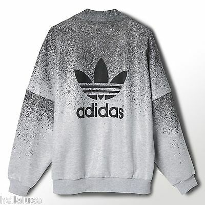 Adidas Rita Ora Supergirl Track Sweat Shirt Jacket French Terry Top Womens Sz Xl