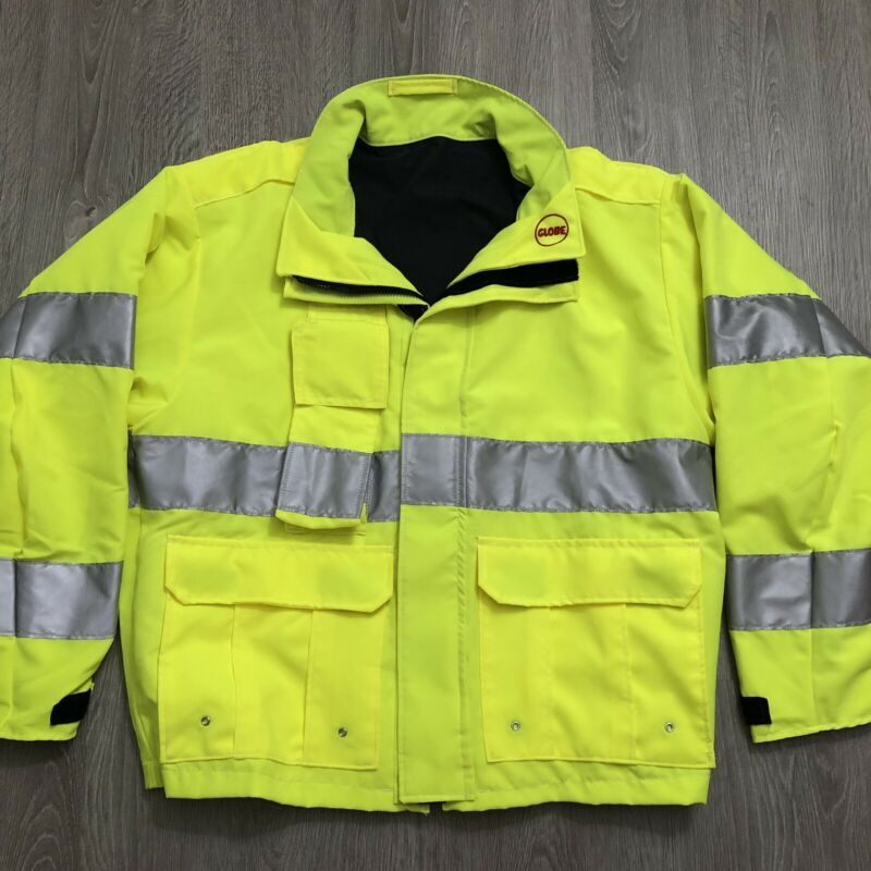 Globe LifeLine EMS ANSI Mens Large Fed Fire Rescue Jacket 2016 High Visibility