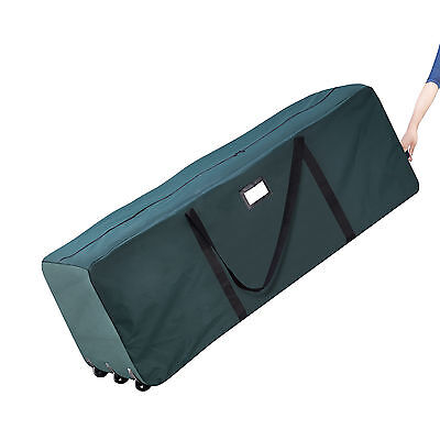 Elf Stor Premium Green Rolling Duffle Bag Style Christmas Tree Storage Bag