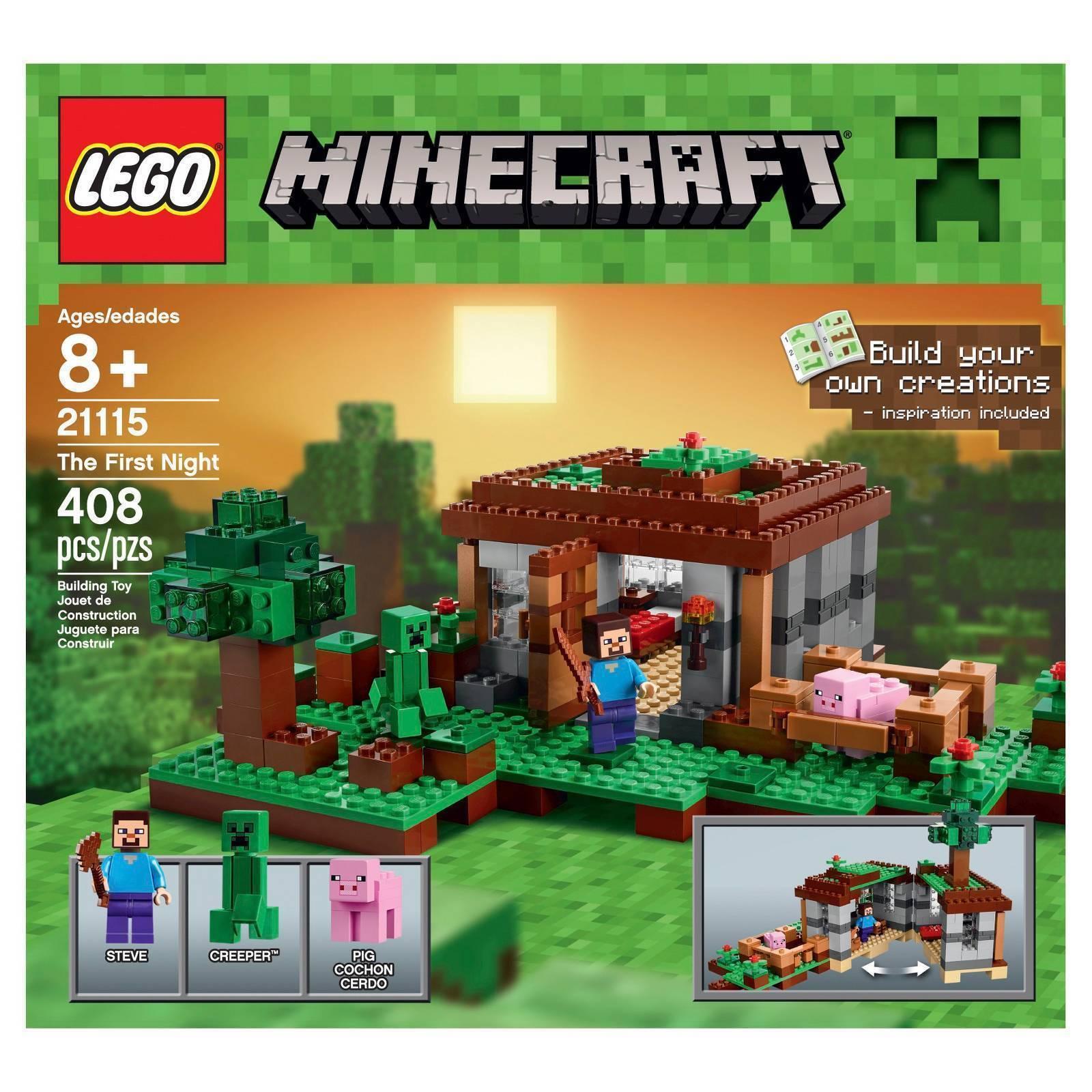 Lego Minecraft The First Nigh 21115 Ebay