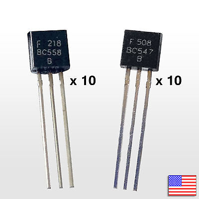 20pcs 10 Pair Bc558b Bc547b Bipolar Transistor Bjt Bc558 Bc547 - Free Shipping