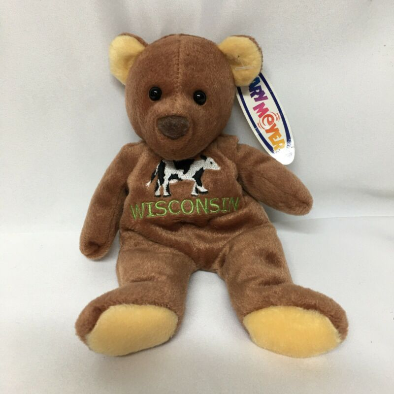 Mary Beyer Bear  Wisconsin Cow 1999 Vintage 8 inch Brown