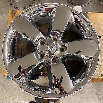 """2013-2018 DODGE RAM 1500 20"""" 20x8 Chrome Clad Factory Wheel Rim & Cap OEM"""