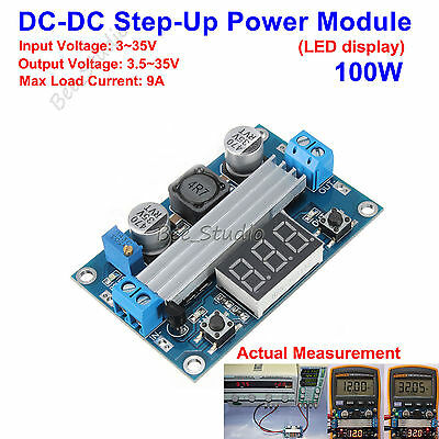 Dc-dc Led Display 3-35v 12v Boost Step-up Voltage Module Regulator Power Supply