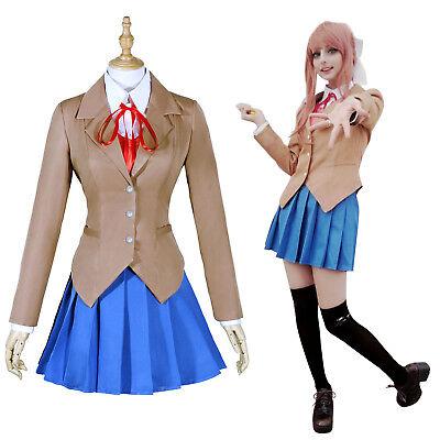 Monika Yuri Sayori Natsuki Cosplay Costume School Uniform Outfit Set Women Girl - Cosplay Outfits