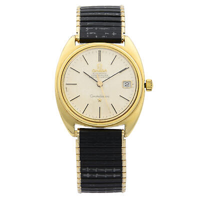 Omega Constellation Gold Plated Steel Silver Dial Automatic Mens Watch 168.017
