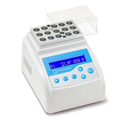 Dry Bath Incubator RT to 100°C, ± 0.3°C Accuracy, Programmable with Timer