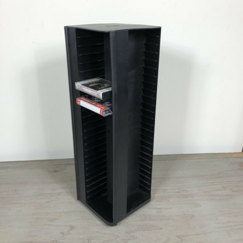 Laserline Spinning Cassette Tape Tower - Holds 100 Cassettes, 25 Each Side