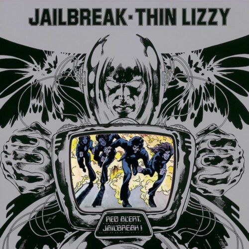 THIN LIZZY Jailbreak BANNER HUGE 4X4 Ft Fabric Poster Tapestry Flag album cover
