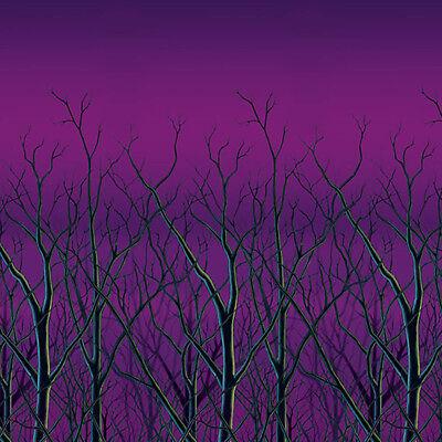 Halloween Party Scene Setter Spooky Forest Treetops Backdrop Decoration ()