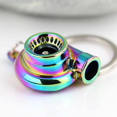 New Charming Neo Polished Rainbow Spinning Turbo Keychain Keyring Key Chain Ring