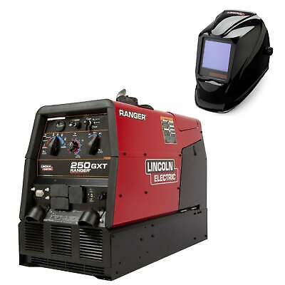 Lincoln Ranger 250 Gxt Welder Generator And 3350 Helmet Bundle K2382-4 3034-3