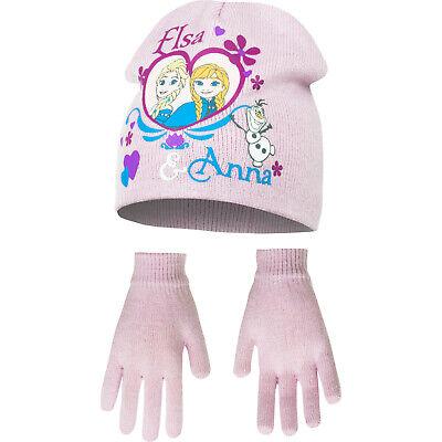 Disney Frozen Eiskönigin Anna & Elsa Set Mütze+Handschuhe - Frozen Mädchen Anna Handschuhe