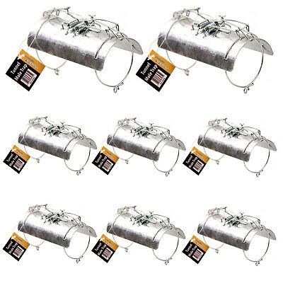 8x GROUND TUNNEL BARREL MOLE TRAPS PEST CONTROL POISON FREE FAST EASY KILL STEEL
