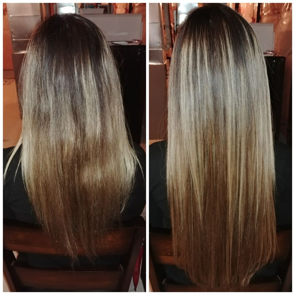 Keratin Fusion Hair Extensions Only 199 Full Head Installed