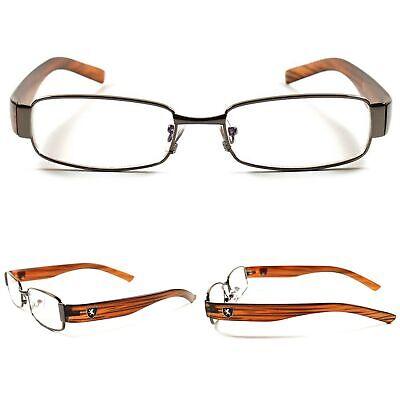 Clear Lens Stylish Wood Effect Mens Womens Eye Glasses Prescription Rx (Stylish Mens Frames)