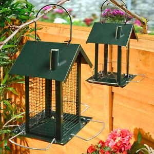 2 bird feeder feeding station hanging house design garden - Bird feeder garden designs ...