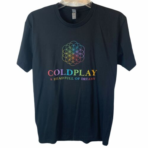 Coldplay A Head Full of Dreams World Tour 2017 Concert T-Shirt Unisex Size Med
