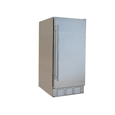 "EdgeStar IB250OD 15""W 20 Lbs. Built-In Outdoor Ice Maker - Stainless Steel"