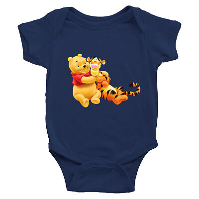 Winnie the Pooh Bear and Tigger Friend Infant Baby Boy Girl Rib Bodysuit Clothes