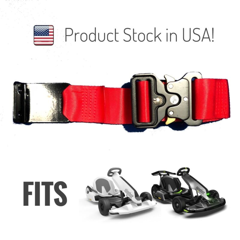 Red Seatbelt Assembly For Ninebot Gokart And Pro Limited Edition