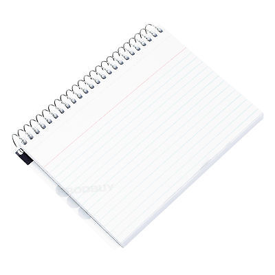 10 Pack Spiral Index Cards 6x4 Lined White Exam Revision Record Note Pads Books