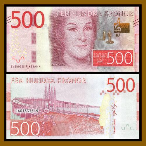 Sweden 500 Kronor, 2016/ 2017 P-New Birgit Nilsson Unc