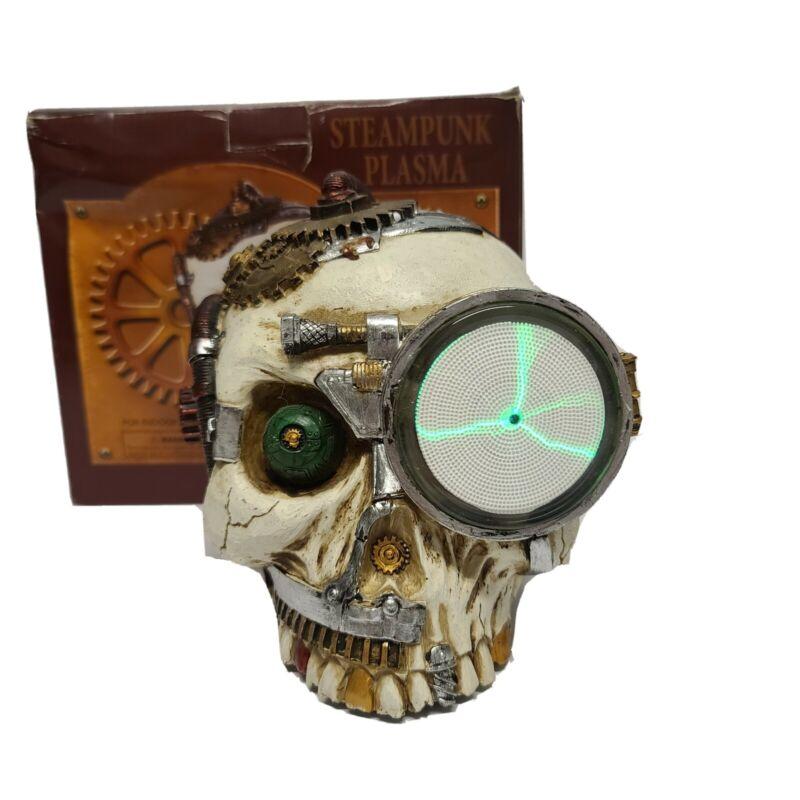 Spencer Steampunk Plasma Skull Halloween Decor Sound Activated Vintage?