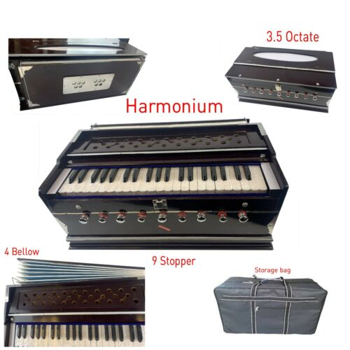 Harmonium 3.5 Oct 7 Bellow 9 Stopper Indian Musical Instrument