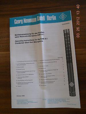 Georg Neumann Gmbh Km 100 Product Übersicht Original Dokument Audio For Video Cameras & Photo