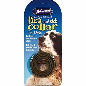Johnsons Waterproof Flea & Tick Collar For Dogs Kills Fleas/Ticks Up To 5 Months