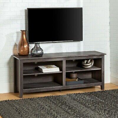 Gray TV Stand Home Entertainment Center Cabinet Media Audio 60 inch Open Shelf Espresso 60 Audio