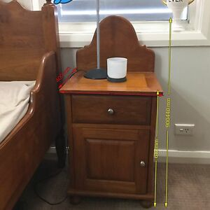 Solid Teak KSingle Beds & Bedside Cabinets Set-Matched pair Chatswood Willoughby Area Preview