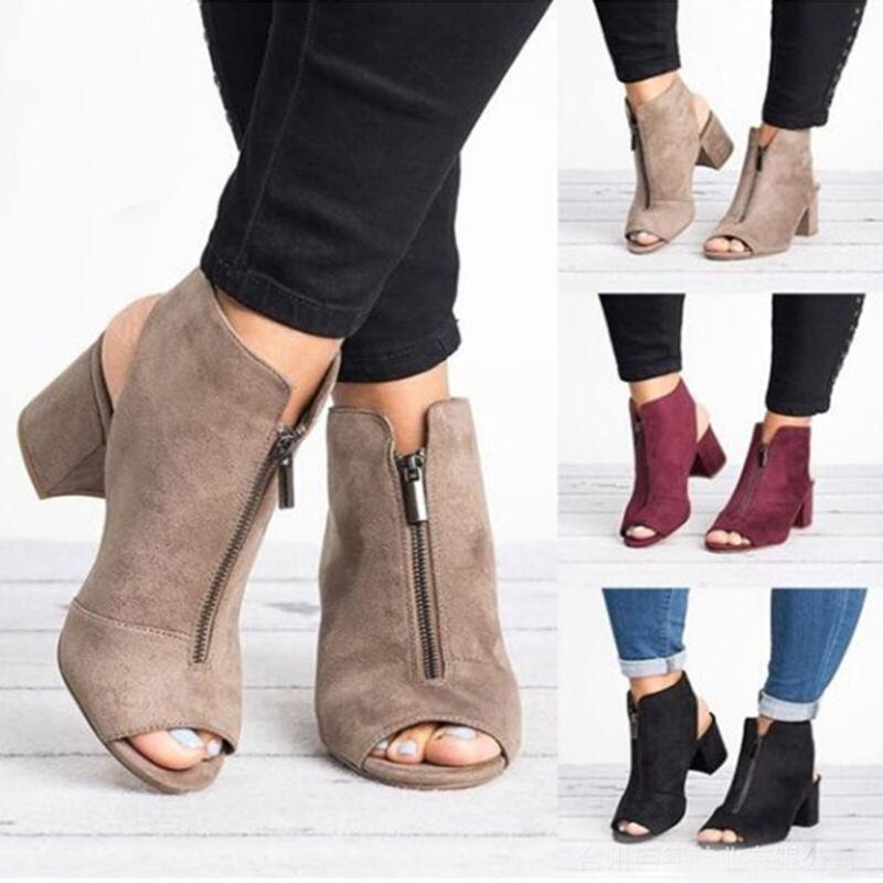 Womens Sandals Boots Casual Wedges Heel Platform Peep Toe La