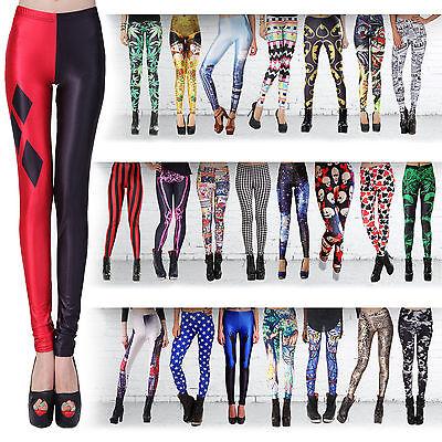 Sexy Fashion Lady Pattern Printed Hot Womens Stretch Tight Leggings Skinny Pants