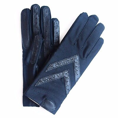 Isotoner Ladies Classic Unlined Stretch Driving Gloves Black Color Size XL $34