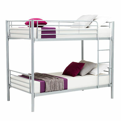 New Metal Twin over Twin Bunk Beds Frame Ladder Kids Adult Children Bedroom Dorm