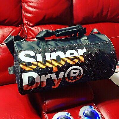 Superdry Nue Wave Lineman Barrel Bag / Orange & Black Duffel Gym / New No Tags
