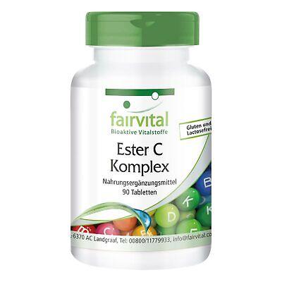Ester C Komplex 90 - Tabletten mit Rutin Acerola Hagebutten | VEGAN | fairvital