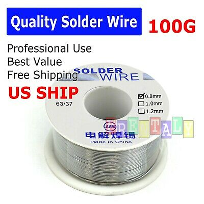 6337 Tin Lead Rosin Core Flux 0.8mm Diameter Soldering Solder Wire 100g 65ft