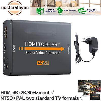 Universal HDMI zu auf Scart Konverter Video Audio Converter Adapter 4Kx2K HD TV Kx Audio