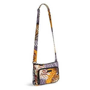 f75c583ebd3a Vera Bradley Little Hipster Bag 100 Cotton Painted Feathers Pattern ...