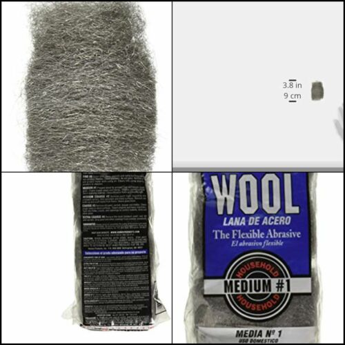 16 Pads Medium Steel Wool Pad, Clean Copper Pipes And Fittings Grade #1