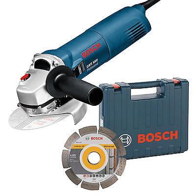 Bosch Winkelschleifer GWS 1000 Ø 125 mm + Diamanttrennscheibe im Koffer GWS1000