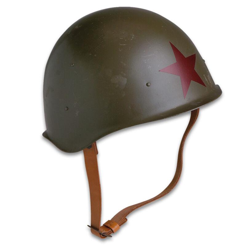 Genuine Soviet Russia Red Army M52 Helmet World War II Style Military Red Star