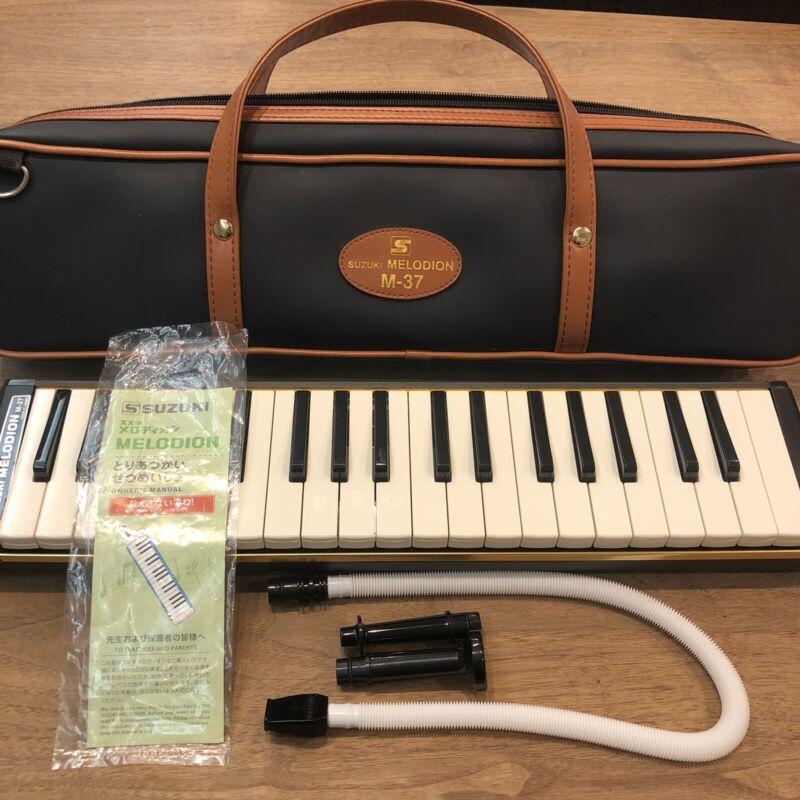 SUZUKI M-37 Melodion Melodica Alto Wind Keyboard Harmonica Bundle Soft Case
