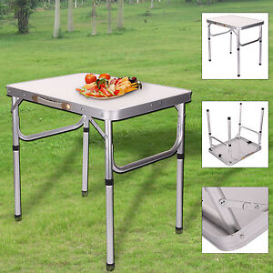 Aluminum Portable Adjustable Folding Table Camping Outdoor Picnic Party BBQ