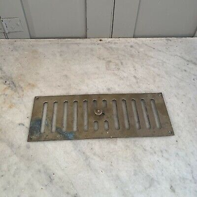 Antique brass air vent with sliding mechanism