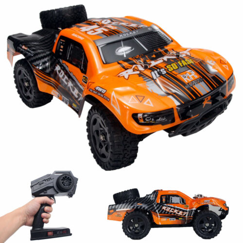 REMO 1/16 RC Truck 2.4Ghz 4WD High Speed Off-road Car Short Course Truck Orange